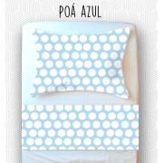 Jogo Solteiro - Poá Azul