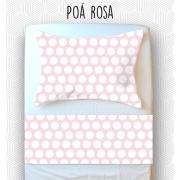 Jogo Solteiro - Poá Rosa