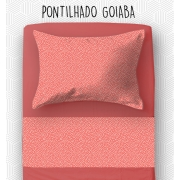 Jogo Solteiro - Pontilhado Goiaba
