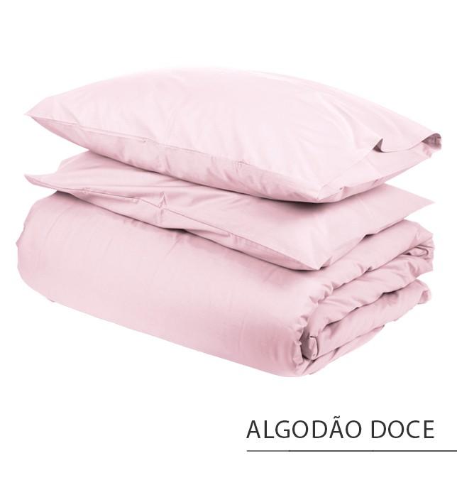 Capa para Edredom CASAL {ALGODÃO DOCE}