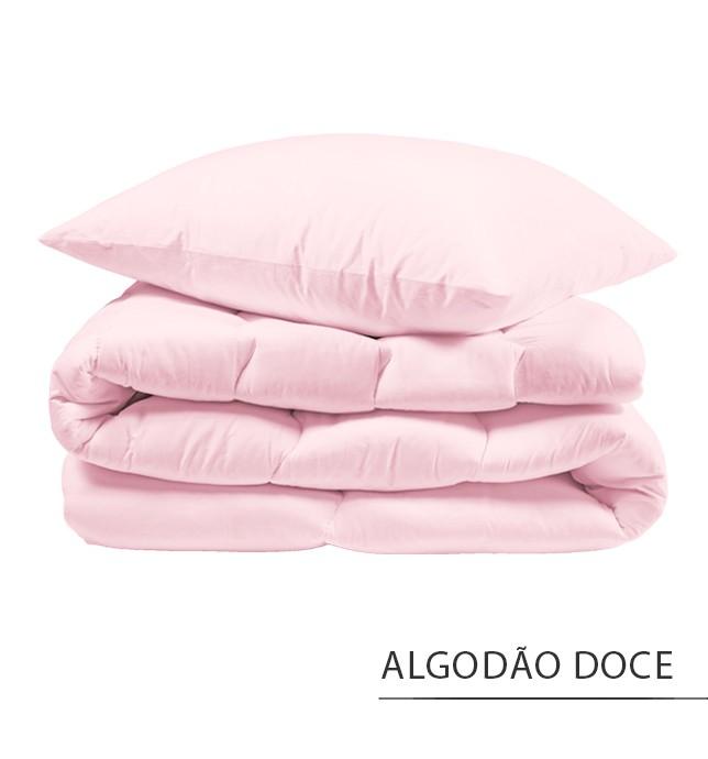Capa para Edredom SOLTEIRO {ALGODÃO DOCE}