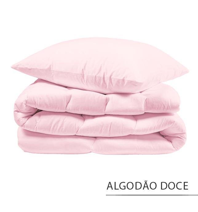 Capa para Edredom SOLTEIRO KING {ALGODÃO DOCE}