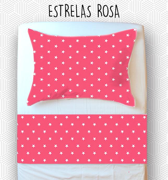 Jogo Berço - Estrelas Rosa