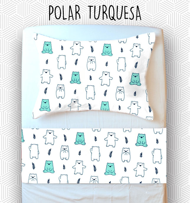 Jogo Berço - Polar Turquesa