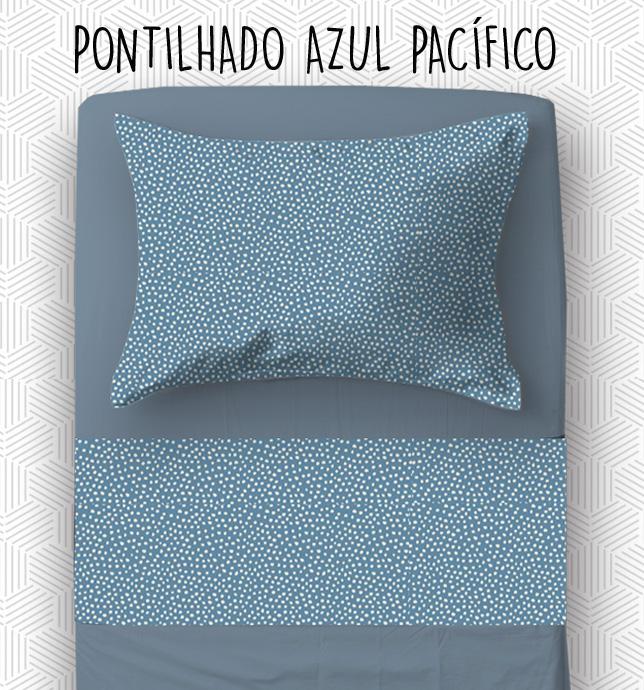 Jogo Berço - Pontilhado Azul Pacífico