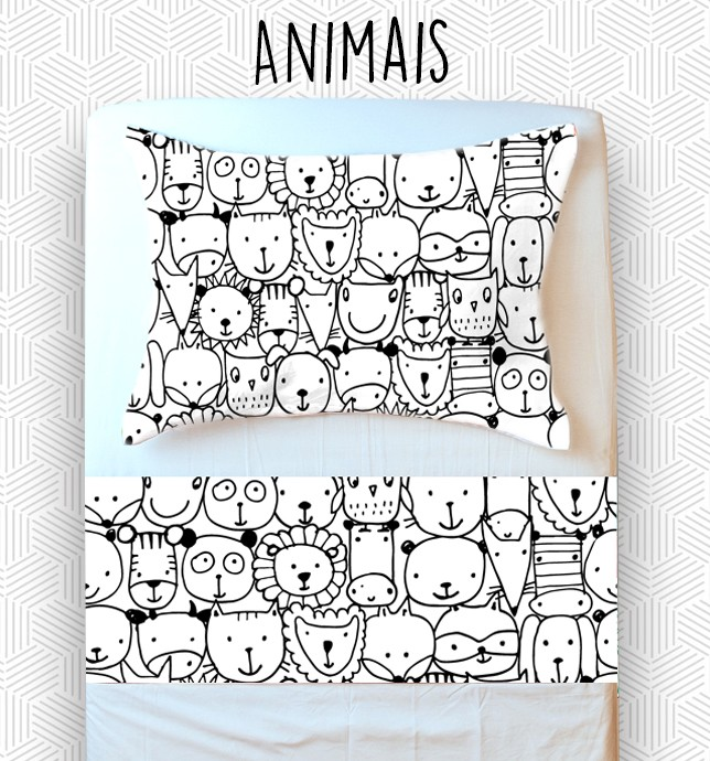 Jogo Mini Cama / Júnior - Animais