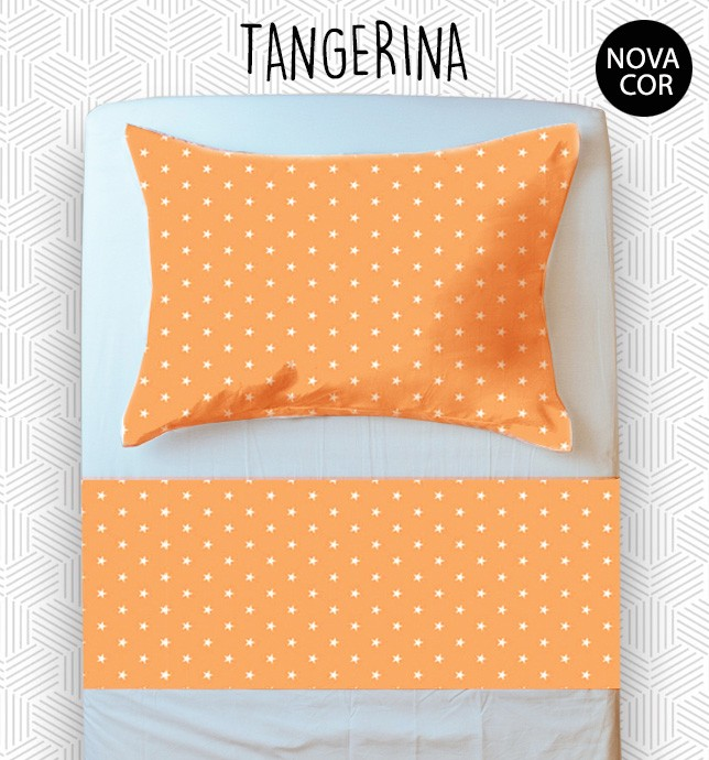 Jogo Mini Cama / Júnior - Tangerina