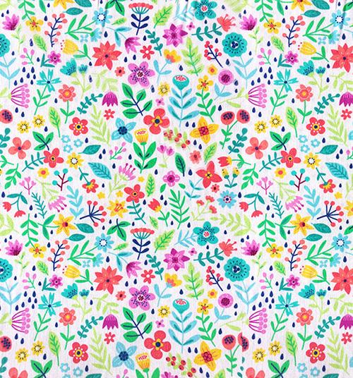 Jogo Solteiro - Floral