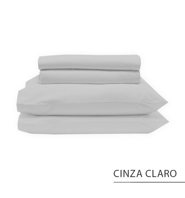 Jogo SOLTEIRO KING - Cinza Claro