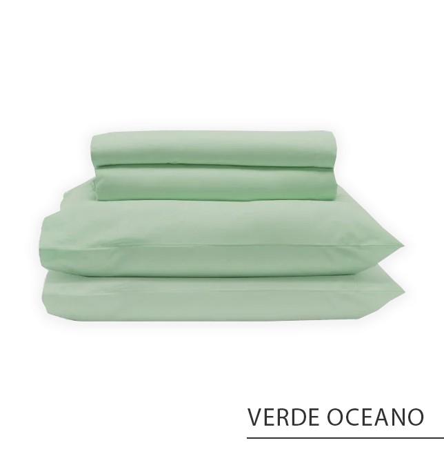 Jogo SOLTEIRO KING - Verde Oceano