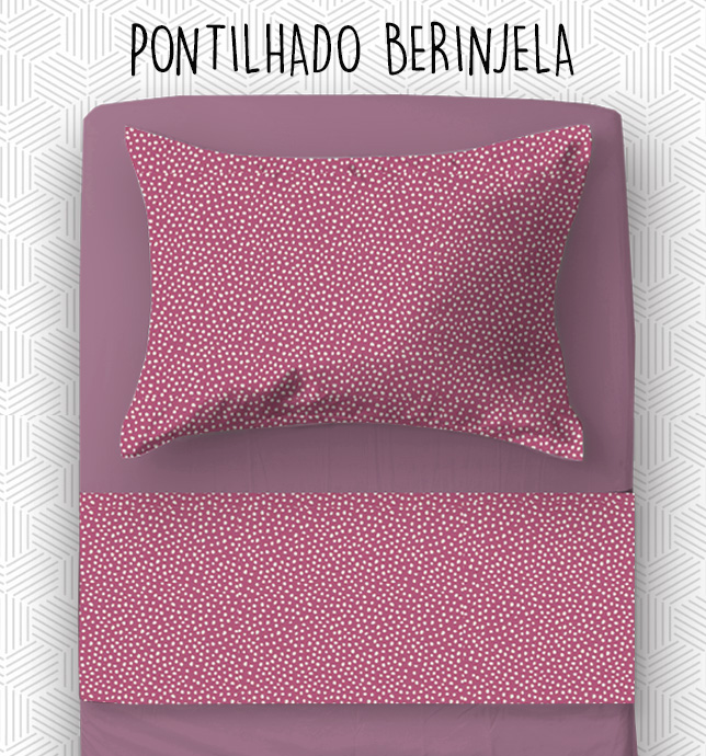 Jogo SOLTEIRO KING / VIÚVA - Pontilhado Berinjela
