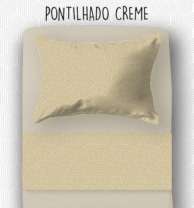 Jogo SOLTEIRO KING / VIÚVA - Pontilhado Creme