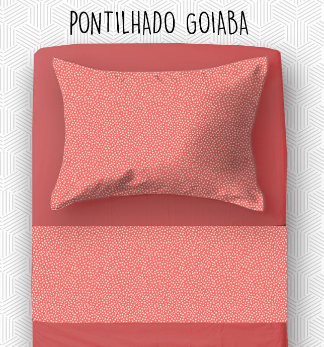 Jogo SOLTEIRO KING / VIÚVA - Pontilhado Goiaba