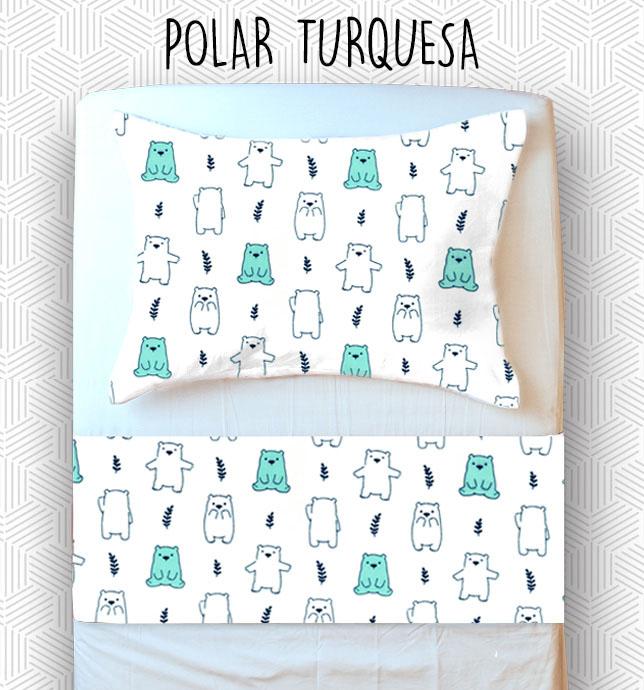 Jogo Solteiro - Polar Turquesa