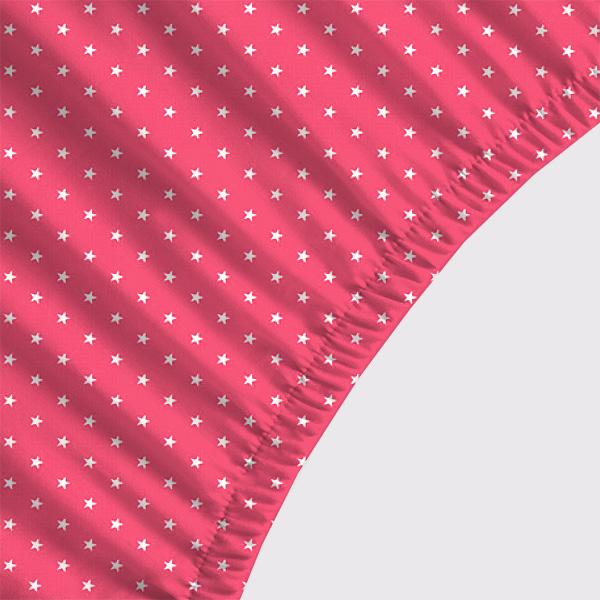 Lençol Avulso SOLTEIRO - Estrelas Rosa