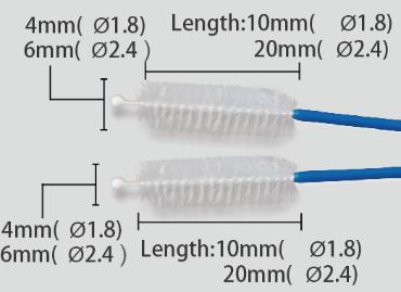 Escova de Limpeza Double Descartável Colono 2.4mm 220cm