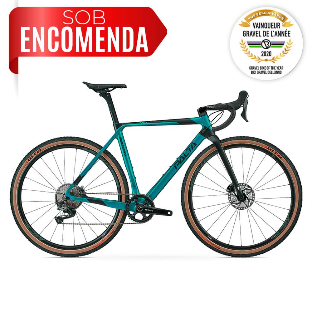 BICICLETA BASSO PALTA EMERALD GREEN 2020 - RODAS CARBON MR38