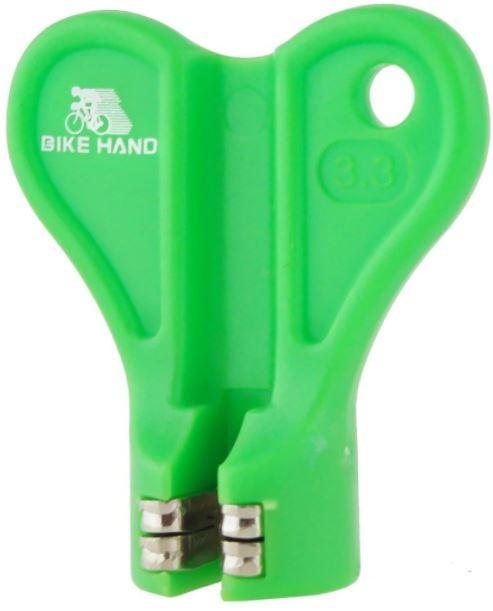 FERRAMENTA PARA ALINHAMENTO DE RAIOS (3.3mm) BIKE HAND  - VERDE - YC-1R-2