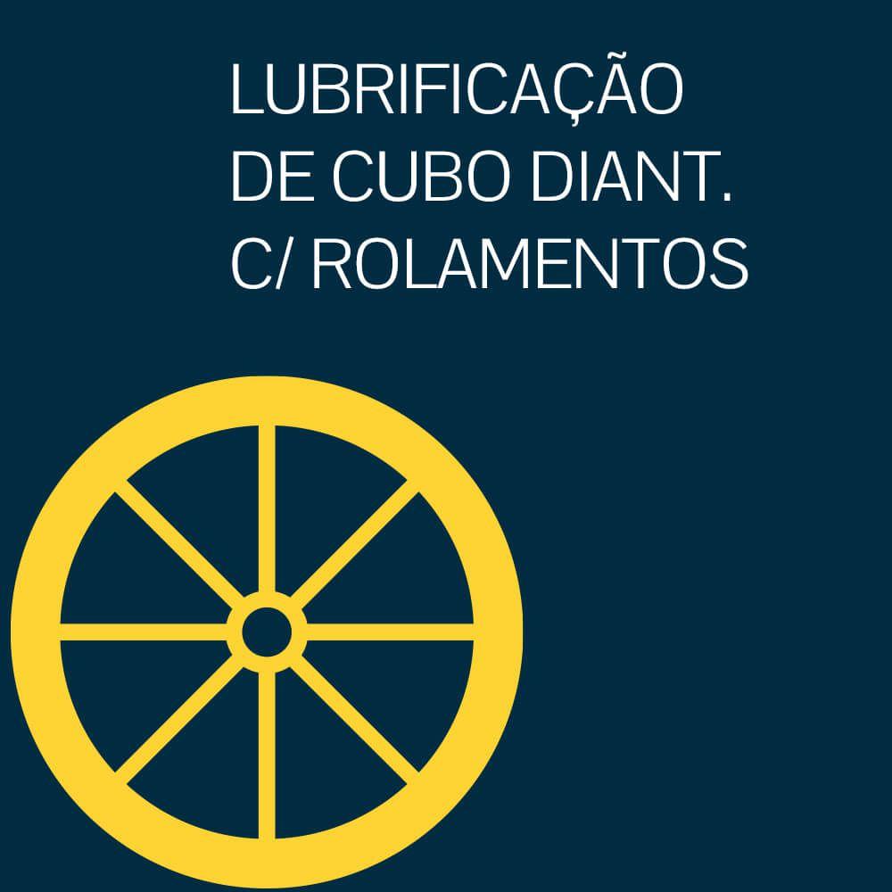 LUBRIFICAÇÃO DE CUBO DIANTEIRO COM ROLAMENTOS