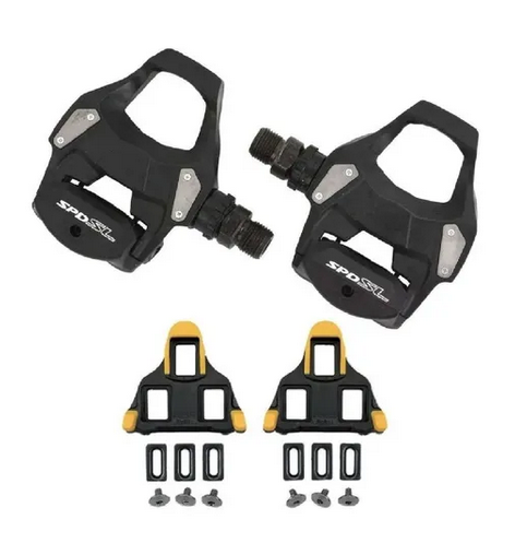 PEDAL SHIMANO SPEED PD-RS500 PRETO + TACOS