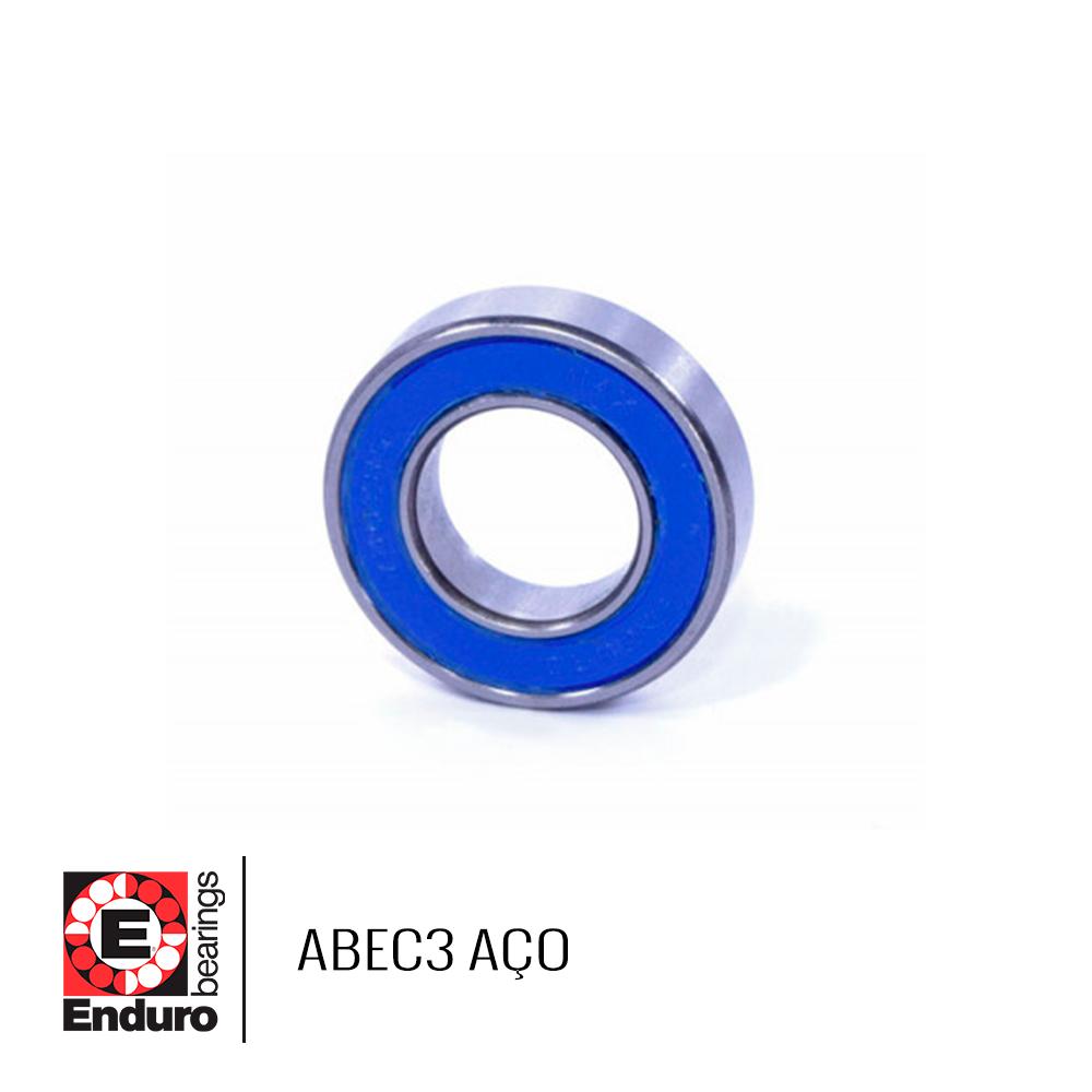 ROLAMENTO ENDURO ABEC3 606 2RS AÇO (6x17x6)