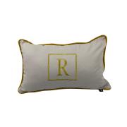 Almofada inicial retângulo: bege e dourado