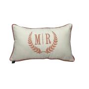 Almofada inicial retângulo: off com rosa -M/R