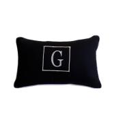 Almofada inicial retângulo: preto com branco - G