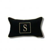 Almofada inicial retângulo: preto e dourado
