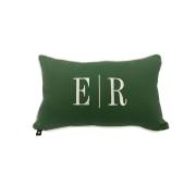Almofada inicial retângulo: verde com off - E/R