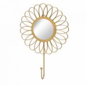 Aramado espelho gancho flor