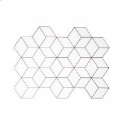 Aramado memory board cubo preto/branco/ rose