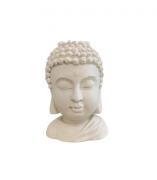 Buda porta velas - Branco/ Verde ou Azul