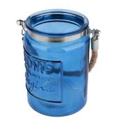 Cachepot/castiçal azul home