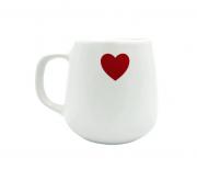 Caneca/xicara cerâmica coração vermelho