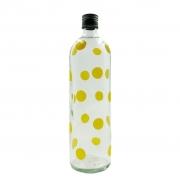 Garrafa de água bolinha amarela