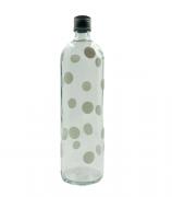 Garrafa de água bolinha branco