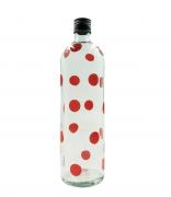 Garrafa de água bolinha vermelha