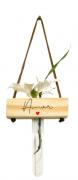 Vaso balanço madeira: amor...