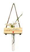 Vaso balanço madeira: gratidão
