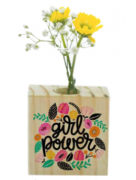 Vaso madeira quadrado: power...