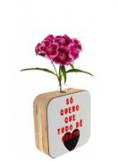 Vaso madeira quadrado: só quero que