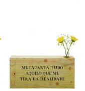 Vaso madeira retangular: me encanta