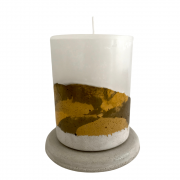 Vela concreto com base: gold