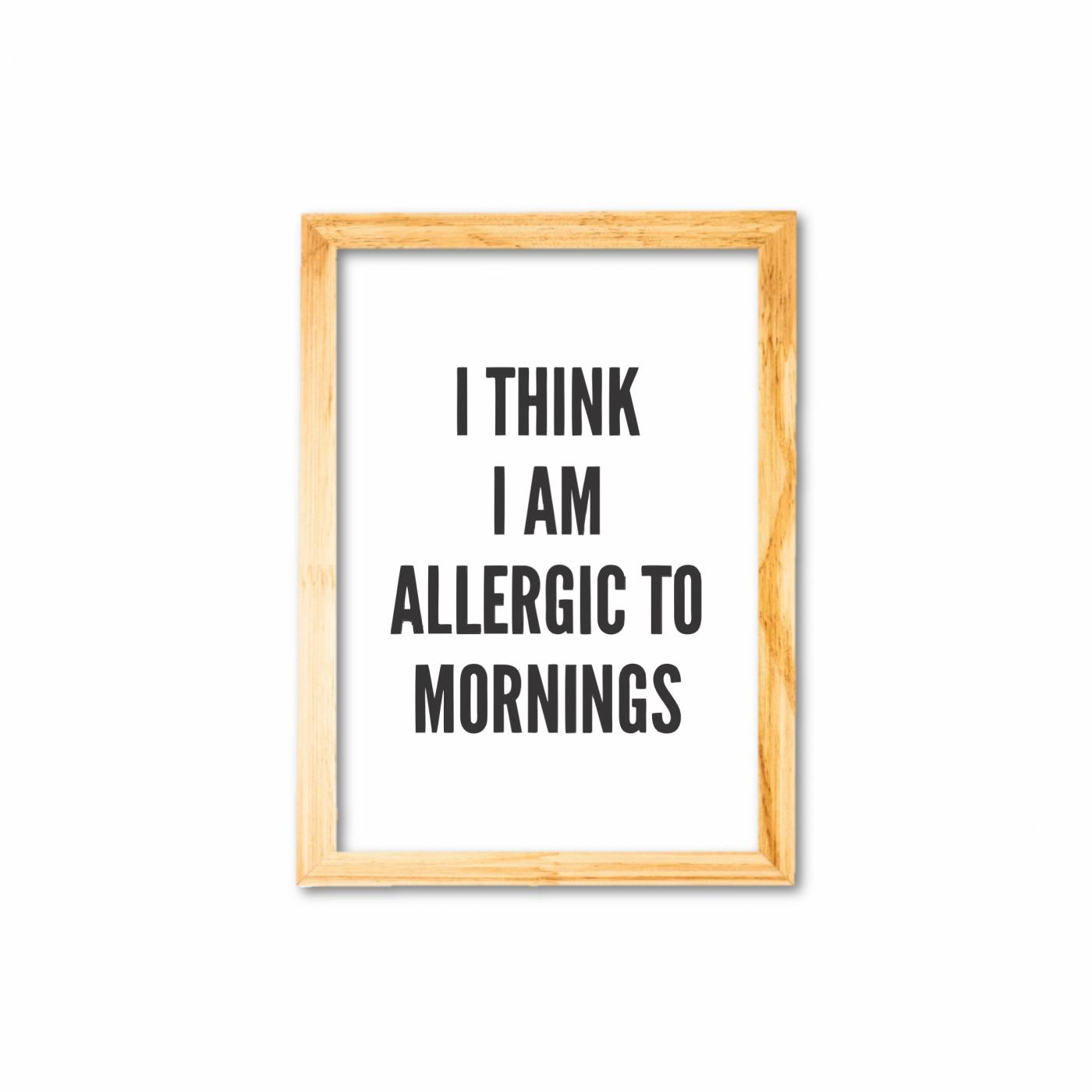 Allergic to morning