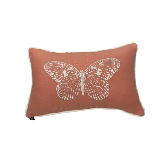 Almofada borboleta rosa