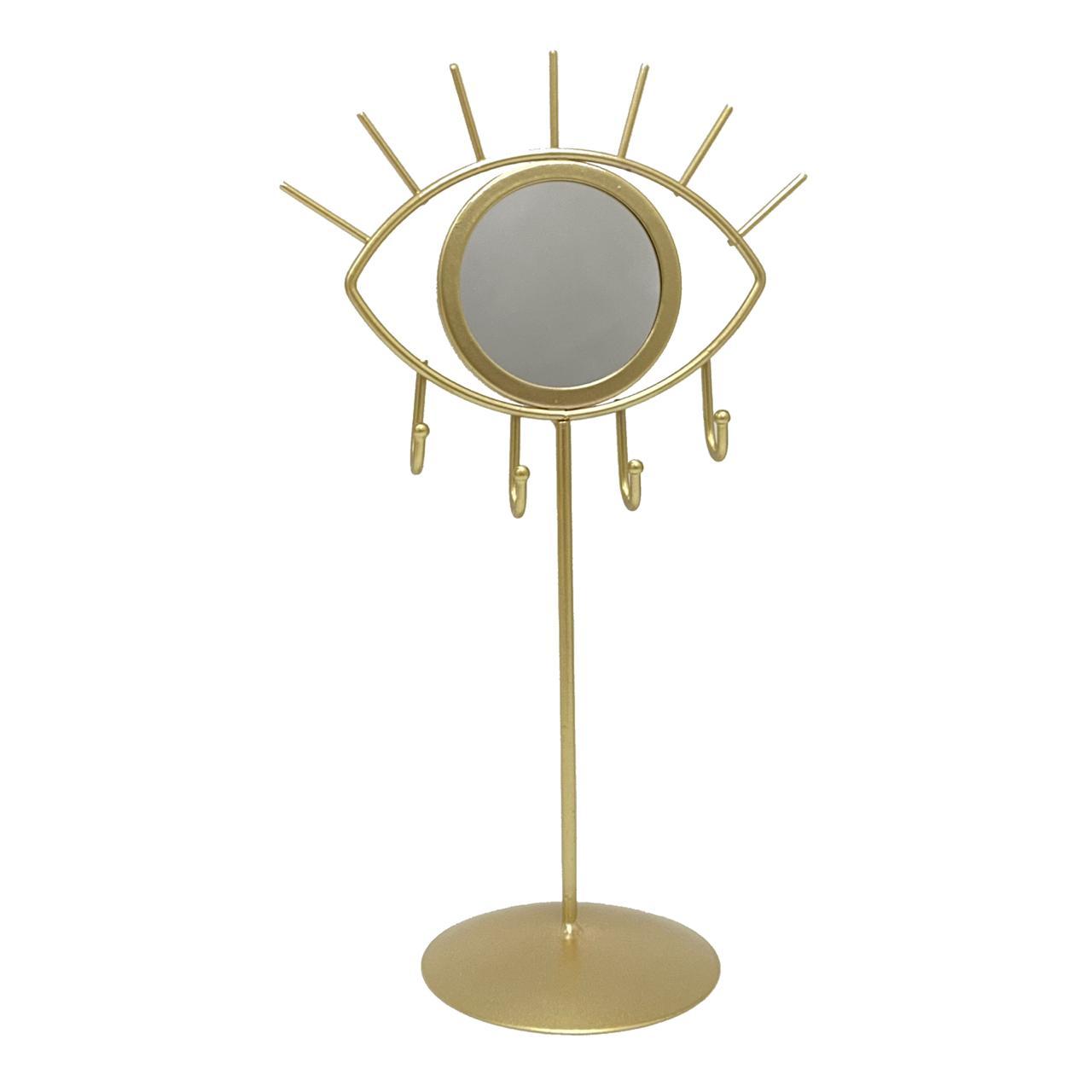 Aramado espelho olho com suporte e gancho