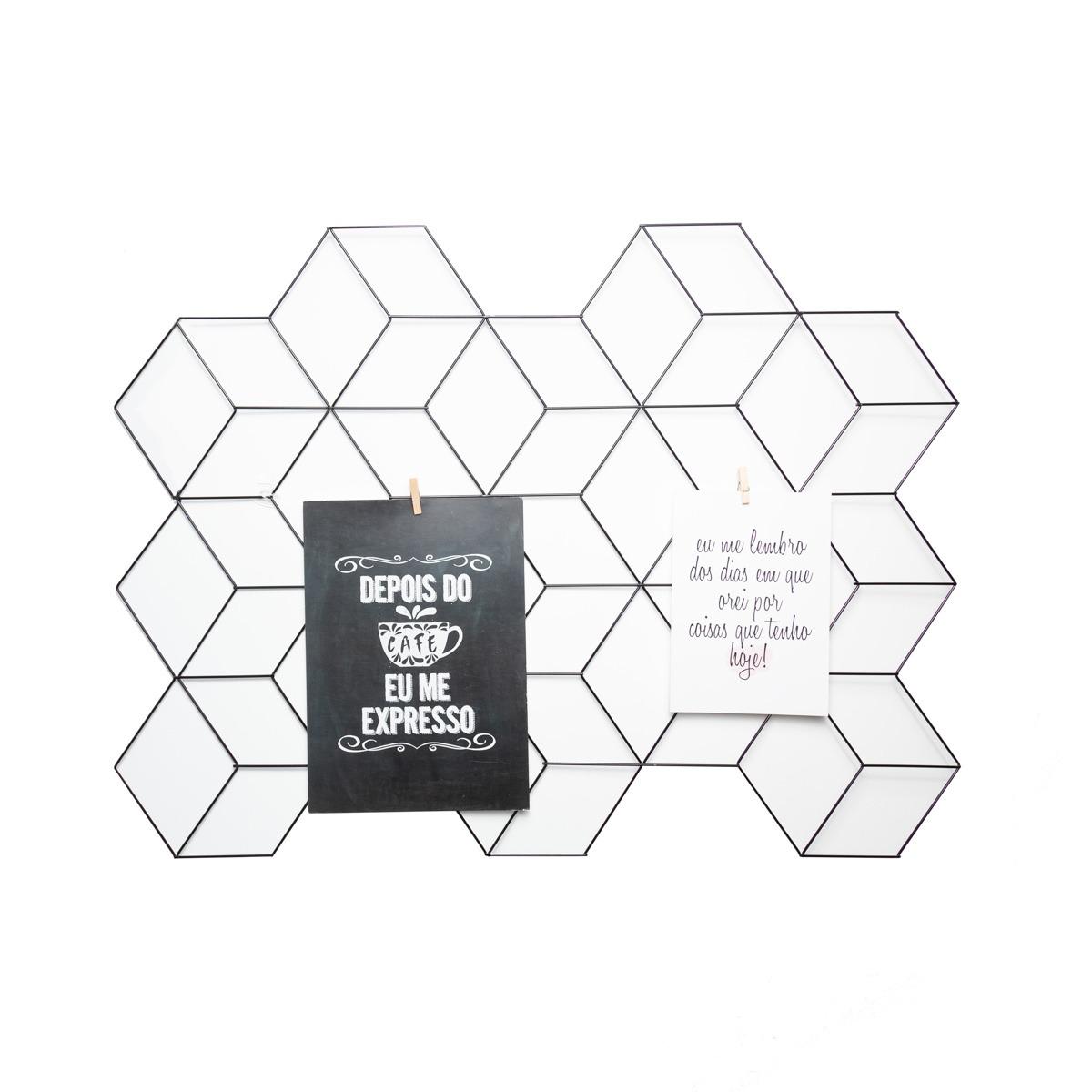 Aramado memory board cubo preto + 10 pregadores