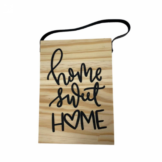 Flâmula madeira retângulo: home sweet home