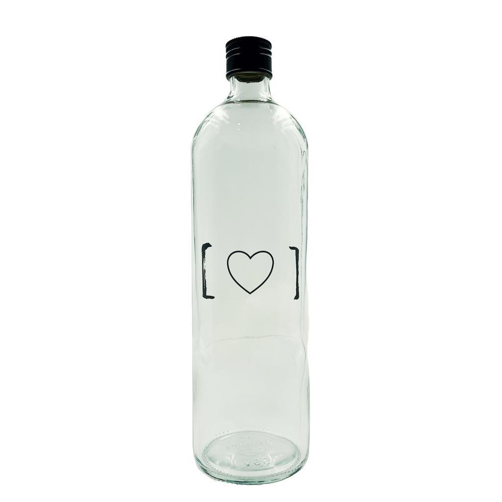 Garrafa de água coração